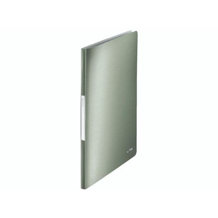 10 stk Displaybog Leitz Style PP 40 lommer grøn