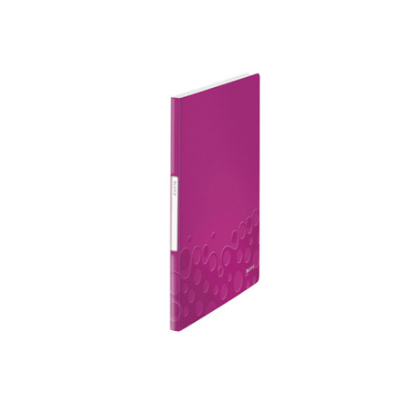 10 stk Displaybog Leitz WOW PP 20 lommer pink