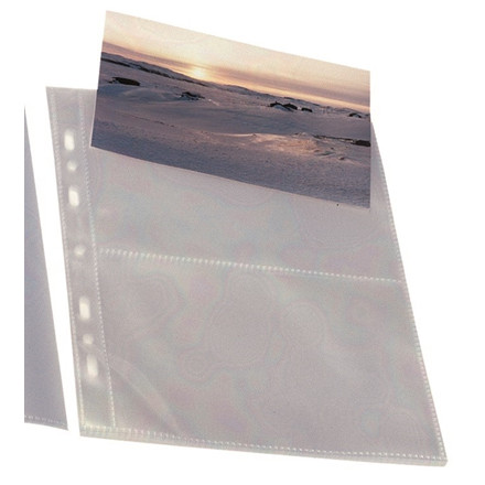 8 pakker Postkortlomme 10x15cm transp 10stk/pak Bantex