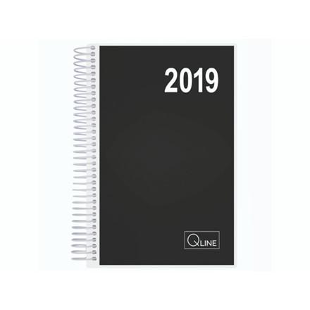 Spiralkalender Q-line 2019 12x17cm 1dag/side 19 2111 00