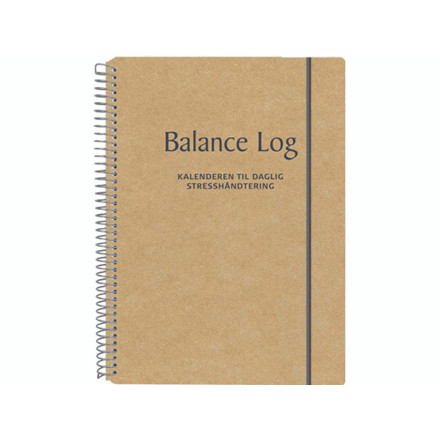 Logbog Balance fiberpap natur 17x24,5cm 3654 00