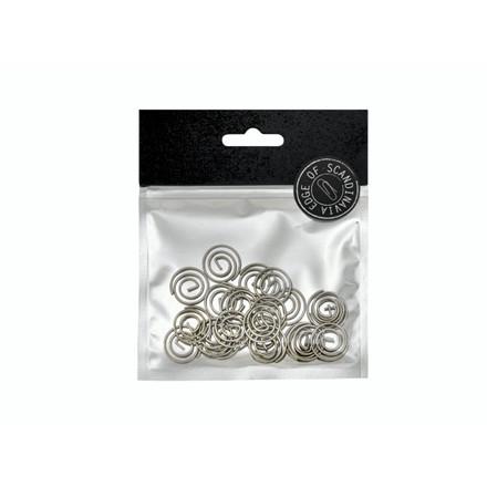 Clips EDGE spiral sølv 20stk/pak