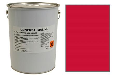 Maling Universal Træ & Metal Sv. Rød 10 ltr