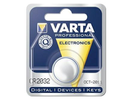 10 pakker Batteri Electronic Varta CR2032 3V 230mAh 1stk/pak
