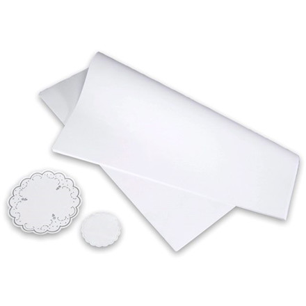 500 Stk Stikdug glat papir hvid 40x80cm 90gr 500stk/pak