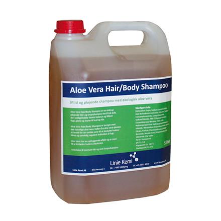 Shampoo Hair/Body m/økologisk Aloe Vera 5 ltr