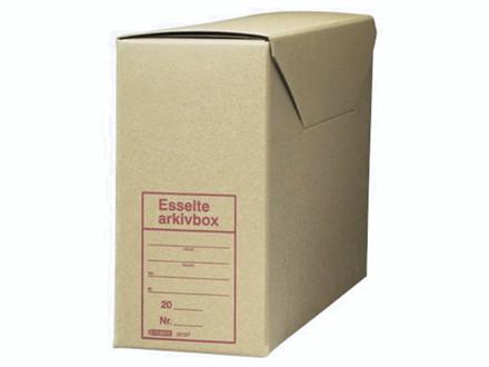 25 stk Arkivæske brun Esselte 390x140x270mm