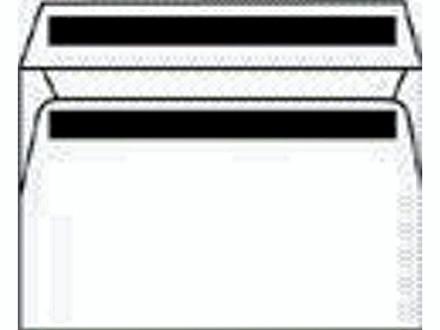 Kuverter m/rude hvid 110x220mm M65 13323 DS 500stk/pak