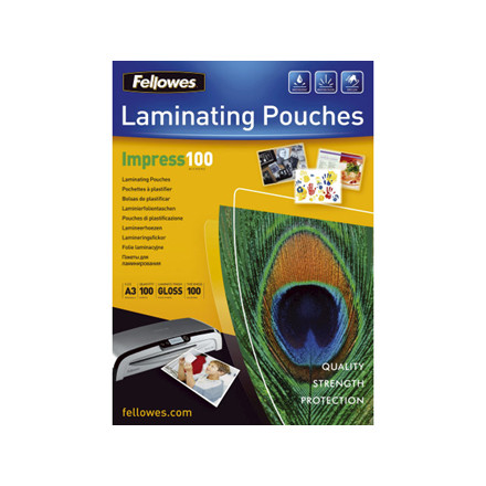 Lamineringslommer 100 mic. 303x426mm 100stk/pak A3