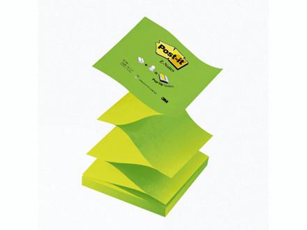 Post-it blok R-330NAG grøn z-fold 76x76mm 12blk/pak