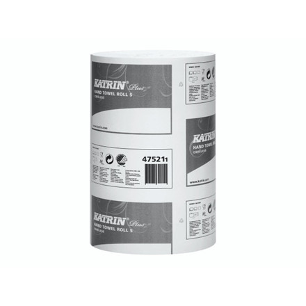 Aftørringspapir Katrin Plus S 1-la 20,5cmx110m 12rl 475218