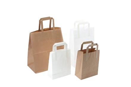250 Stk Papirsbærepose brun 20,3L 70g 320/160x350mm 250stk/p