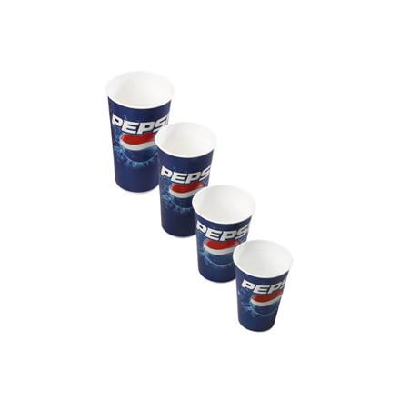 1000 Stk Drikkebægre pap Pepsi 40cl 1000stk/kar (total 50cl)