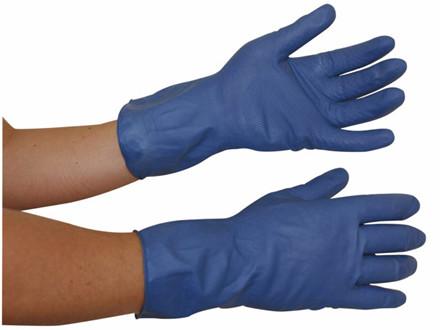 12 Par Latexhandsker medium (7½-8) blå 12par/pak