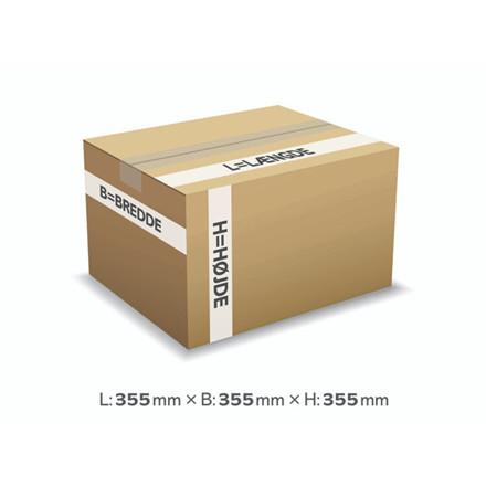 25 stk Bølgepapkasse 355x355x355mm 135 - 45L - 4mm