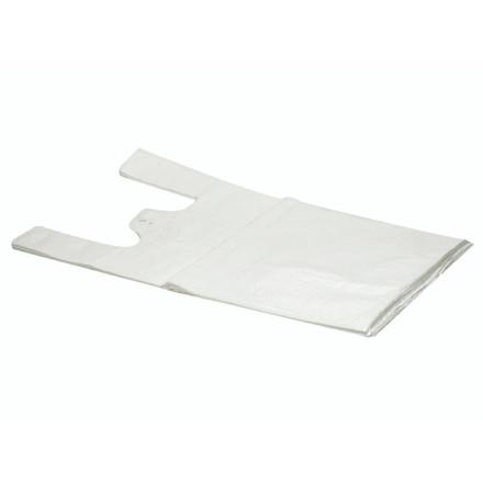 1000 Stk Bærepose HDPE undertrøje hvid 14my 280/70x500mm  10