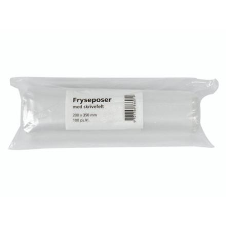 100 Poser 10 ruller Fryseposer 200x350mm 4l m/skrivefelt 100