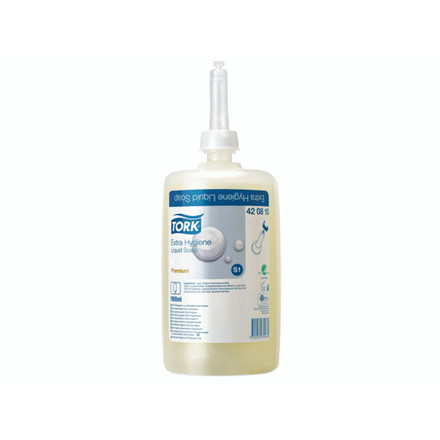 Sæbe Tork Extra Hygiene S1 Premium ufarvet 420810 6x1l