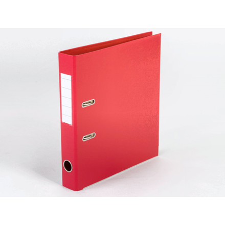 10 stk Brevordner Q-Line rød A4 metalskinne 50mm ryg
