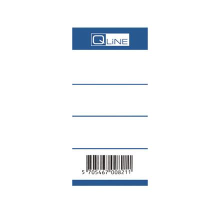 100 Stk Brevordneretiket Q-Line blå 75mm 100stk/pak