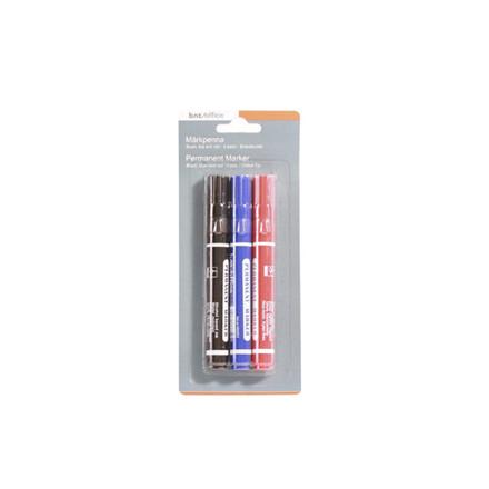 Marker WERA ass. permanent kantet spids 1-6mm 3stk/sæt