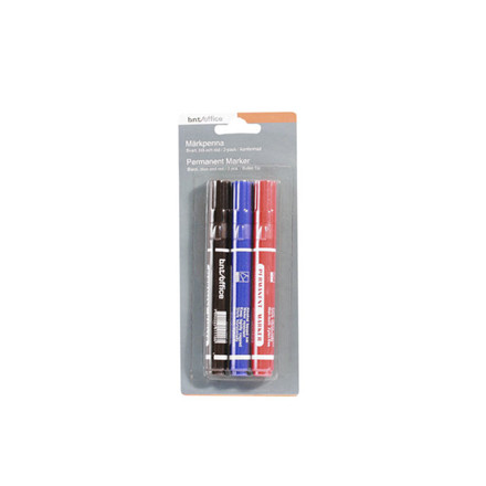 Marker WERA ass. permanent rund spids 2-3mm 3stk/sæt