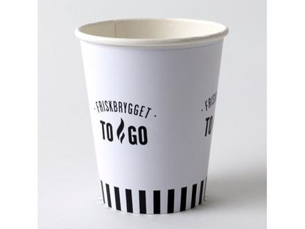 Kaffebæger 8oz FriskBrygget Single Wall pap 1000stk/kar