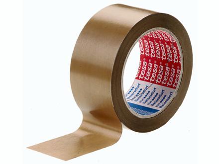 66 Meter 24 ruller Tape tesa rillet PVC brun 75mmx66m 4100