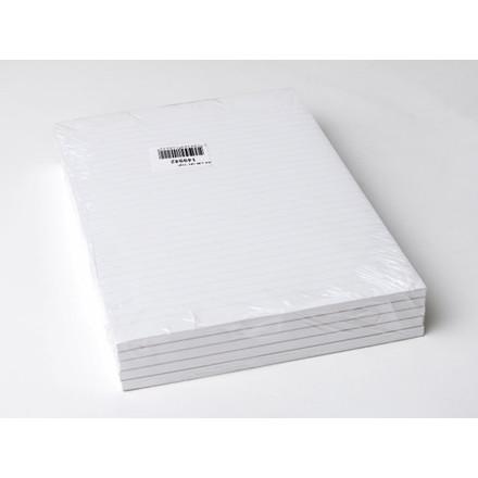 5 stk Standardblok u/huller lin. toplimet 60g hvid A4 100bla