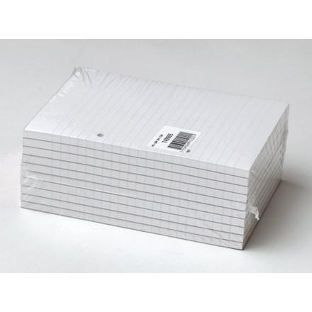 10 stk Standardblok 2 huller lin. toplimet 60g hvid A5