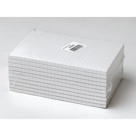 10 stk Standardblok u.huller lin. toplimet 60g hvid A5