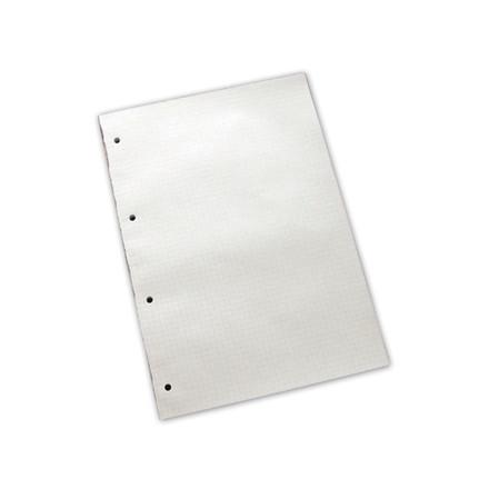 5 stk Standardblok 4 huller kvadr. 60g hvid A4 100blade/blk
