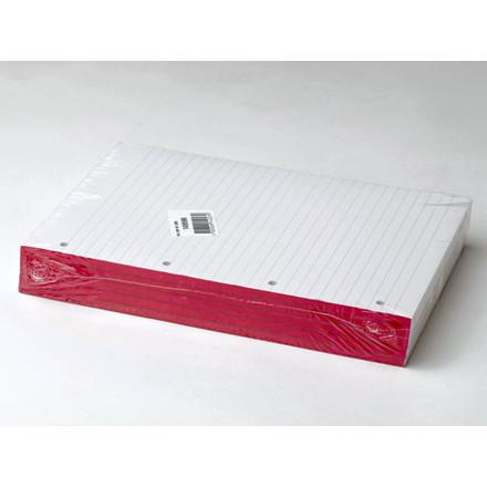 5 stk Standardblok 4 huller lin. 60g hvid A4 100blade/blk