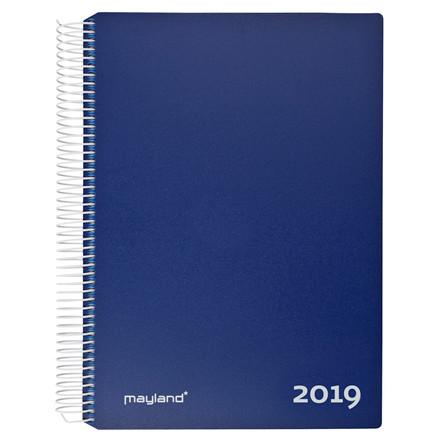 Timekalender m/spiral blå 17x23,5cm 19 2180 20