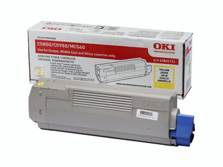 Lasertoner OKI yellow 43865721 T/C5850/C5950 6000 sider v/5%