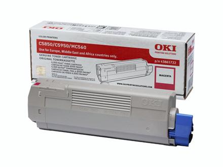Lasertoner OKI magneta 43865722 T/C5850/C5950 6000 sider v/5