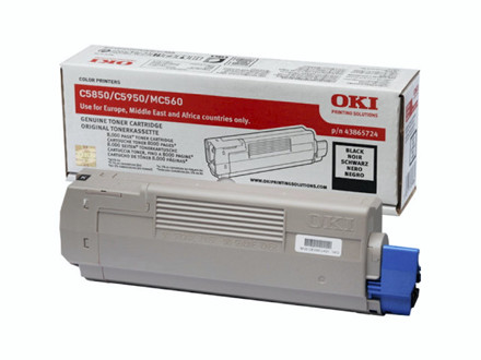 Lasertoner OKI sort 43865724 T/C5850/C5950 8000 sider v/5%