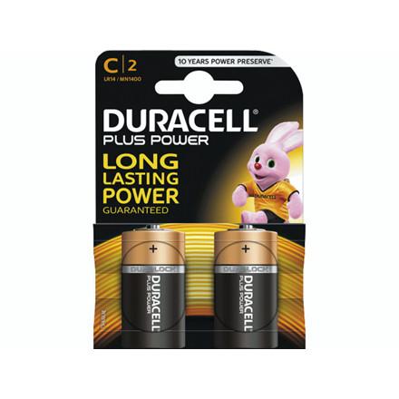 Batteri Duracell Plus Power C 2stk/pak LR14 / MN1400