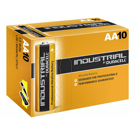 Batteri Duracell Industrial AA 10stk/pak LR6 / MN1500