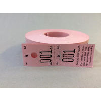 Garderobenumre rosa 2-delt 48 2x500stk