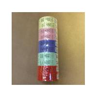 10 stk Garderobenumre ASS 2-delt 48 2x500stk ass.farver