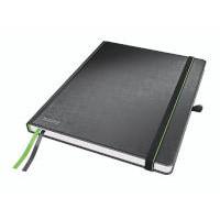Notesblok Leitz Complete A4 linieret 80sider sort