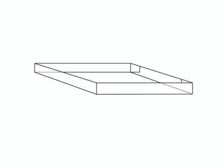 20 stk Containerbund/-top 24 1 bølge 800x600x100mm 4-punkt l