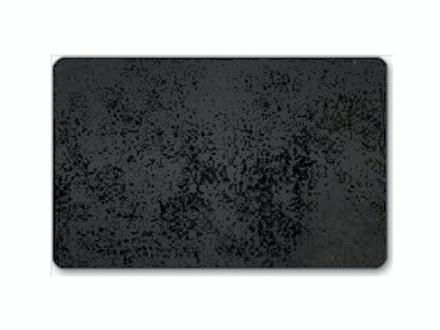 100 stk Plastkort mat sort kerne 86x54x0,76mm Gennemfarvet