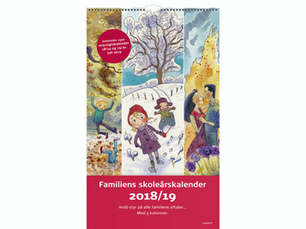 Familie Skoleårskalender m/illustrat. 24x35cm 19 8078 00