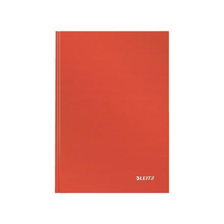 Notesbog Leitz Solid A5 lys rød hard linieret 80ark