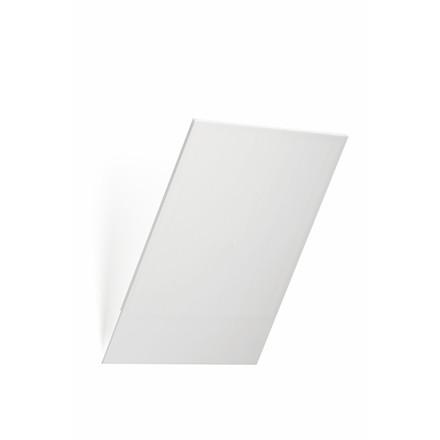 Brochureholder Flexiboxx A4 m/frontplade hvidt stål