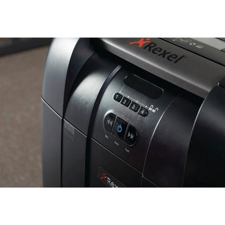 Makulator Rexel Auto+ 600X 4x40mm P4 sort