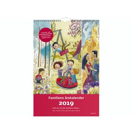 Familiens årskalender 4 kolonner m/illu. 24x35cm 19 0662 20
