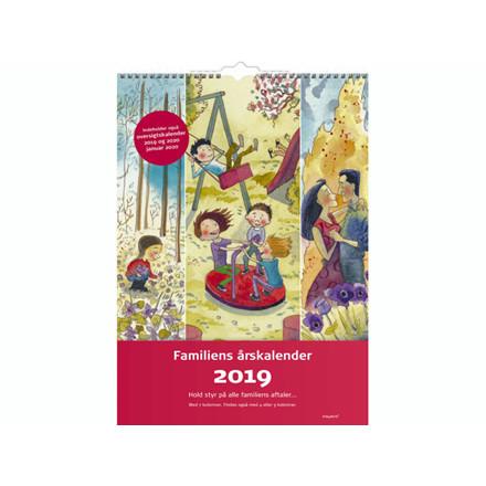 Familiens årskalender 7 kolonner m/illu. 34x48cm 19 0662 40